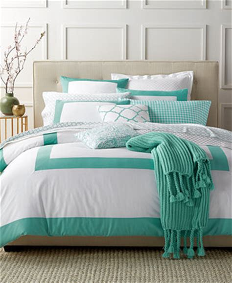 charter club bedding charter club damask designs colorblock teal bedding