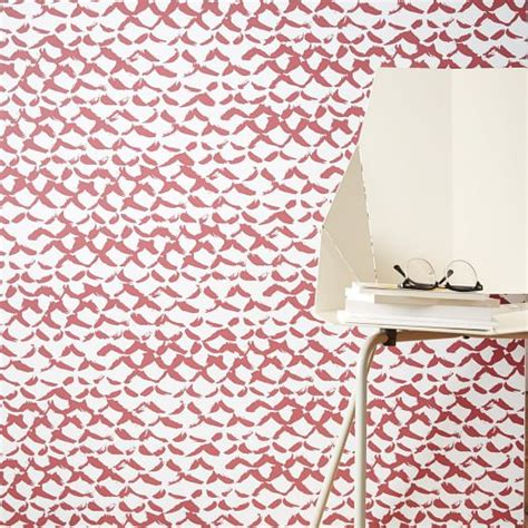 chasing paper removable wallpaper chasing paper removable wallpaper red brush stroke