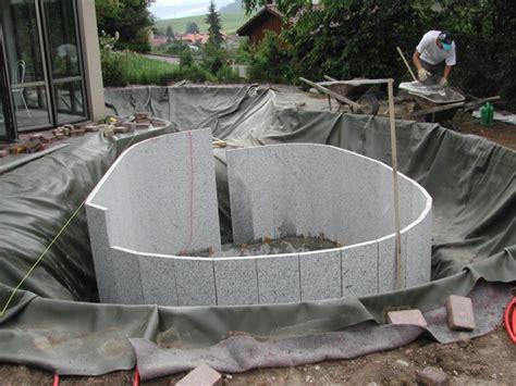 tauchbecken selber bauen badeteich klein tauchbecken