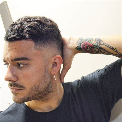thick wavy frizzy haircut styles for males mens hairstyles wavy hair fade haircut