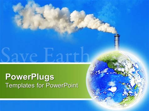 air powerpoint template powerpoint template the representation of pollution on earth with bluish background 25692