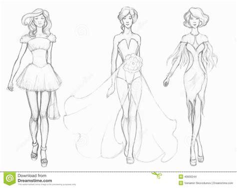 V 234 Tements De Haute Couture De Croquis Couturier
