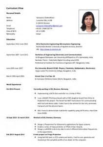 European Curriculum Vitae Format by Cv European Format