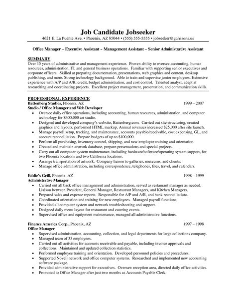 Resume Objective Exles Executive Assistant Administrative Assistant Resume Objective Career Goals Resume In Administrative Assistant