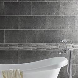 carrelage sol et mur gris vestige l 30 x l 60 cm leroy