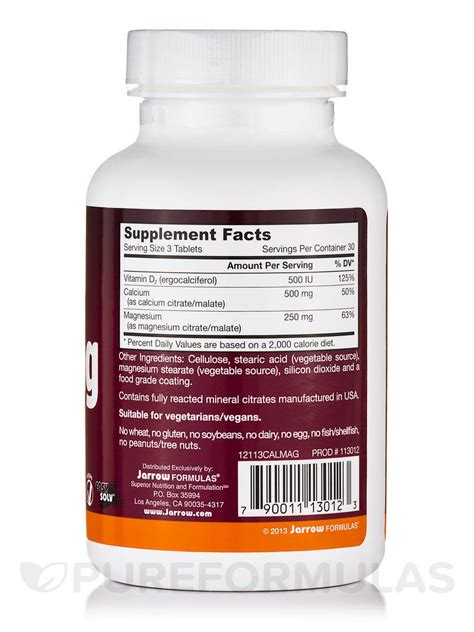Cal Mag Citrate Natur Care Isi 30 Tablet cal mag citrates malates 90 tablets