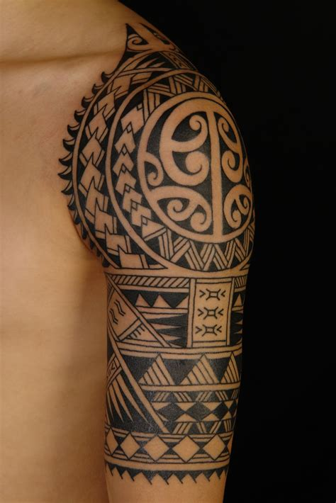 tribal tattoo half sleeve polynesian tattoos designs ideas and meaning tattoos