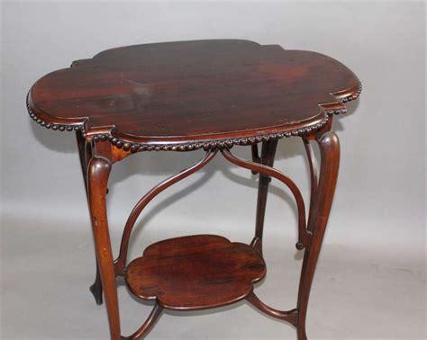 Art Nouveau Exquisite Mahogany Occasional Table Sold