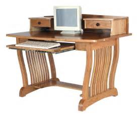 Real Wood Computer Desk Amish Royal Mission Computer Desk Topper Home Office Furniture Solid Wood Ebay
