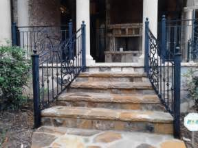 Decorating Banisters Exterior Wrought Iron Handrail Railing Mediterranean
