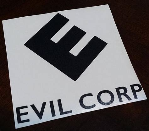 Evil Corp Vinyl - mr robot evil corp tv show die cut vinyl sticker decal