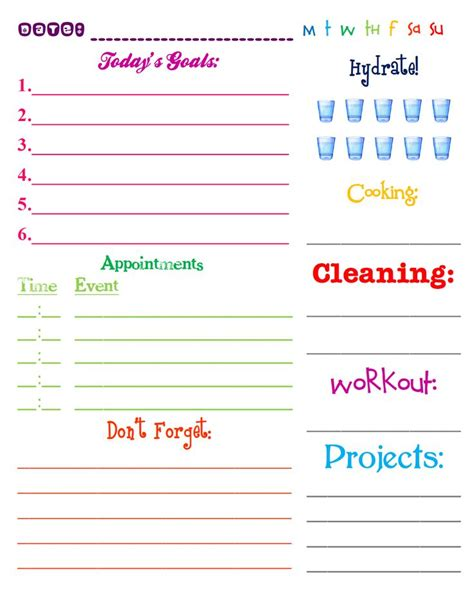 free printable mom planner pages best 25 daily printable ideas on pinterest daily