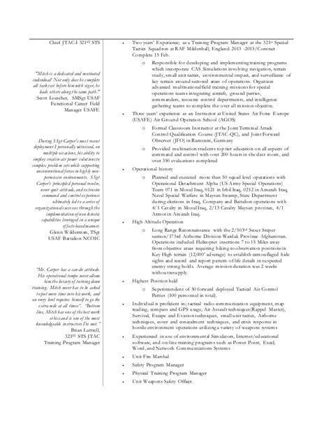 Specific Resume Templates by Specific Resume