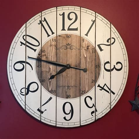 rustic clock 28 inch farmhouse clock rustic wall clock large wall clock
