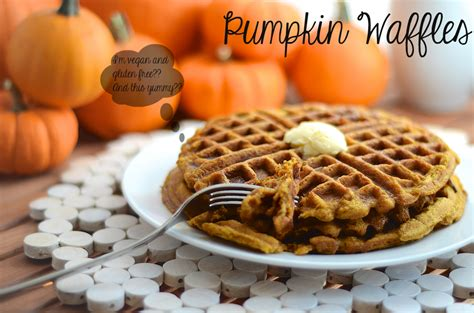 pumpkin waffles g free and vegan