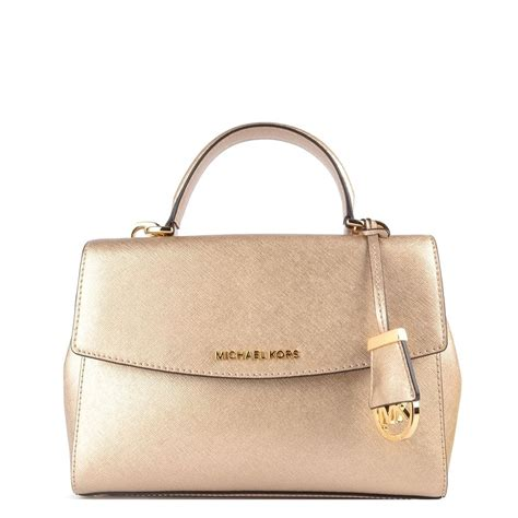 Mk Small Pale Gold michael michael kors pale gold small satchel