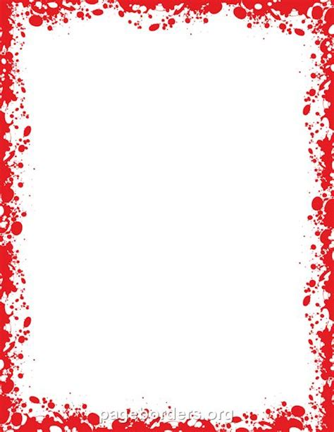 Printable blood border. Use the border in Microsoft Word