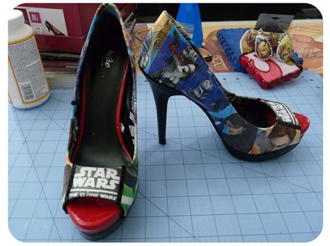 Decoupage Shoes With Paper - diy friday may the 4th be with you and with shoes 171 set
