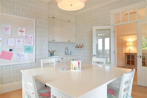 wallpaper for craft room blue and pink craft room and homework room cottage den