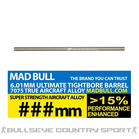 Madbull Ultimate 601 509mm madbull ultimate airsoft 6 01 mm tight bore barrel 247mm