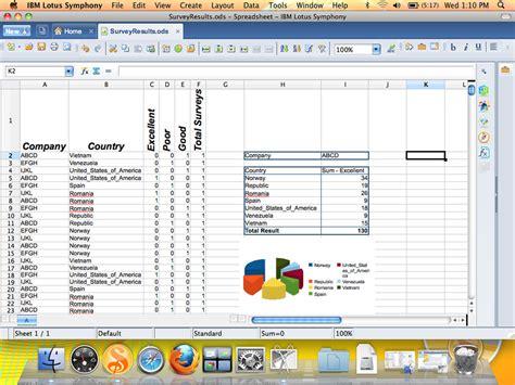 Lotus Spreadsheet by Ibm Lotus Symphony For Mac Creating Spreadsheet