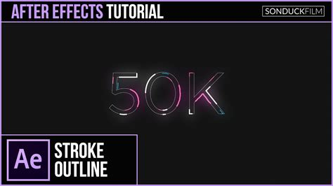 tutorial motion design after effects after effects tutorial animated stroke outline title