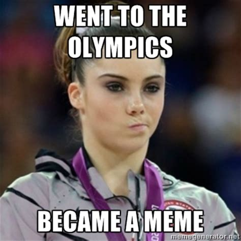 Gymnast Meme - mckayla maroney went to the olympics became a meme