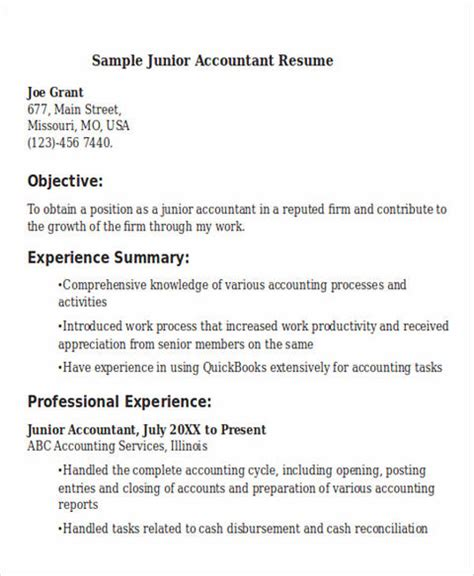boost career accountant resume template boost your career with accountant resume template