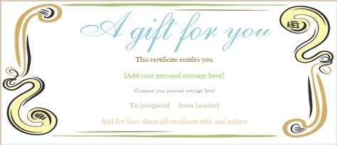 template for a gift certificate abstract border gift certificate template