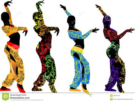imágenes graciosas que se muevan siluetas de los bailarines que se mueven al este fotos de