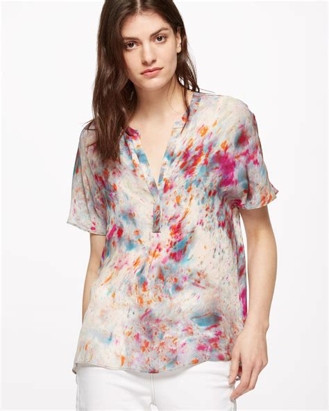 Blouse B 011 rainburst silk blouse jigsaw