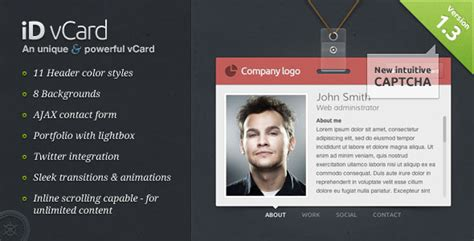 v card template 50 best vcard websites you can web graphic