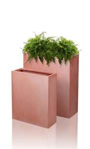 tall flower pots tall terracotta fibrecotta trough planter plant flower pot