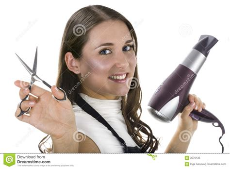 Professional Hair Dresser by Professional Hairdresser Royalty Free Stock Photo Image