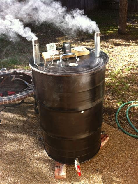 building pit drum my drum smoker uds yard ideas drums and drum smoker