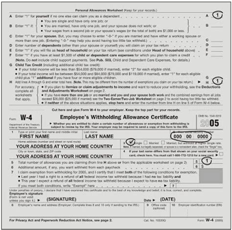 tax refunds how to fill w 4 form properly