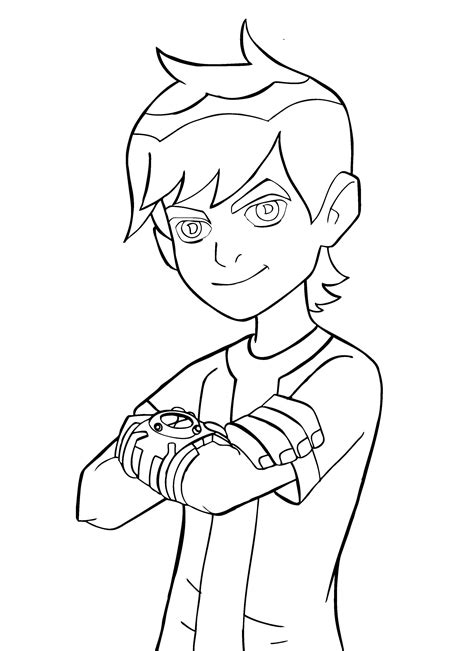 Ben 10 Color Pages free printable ben 10 coloring pages for