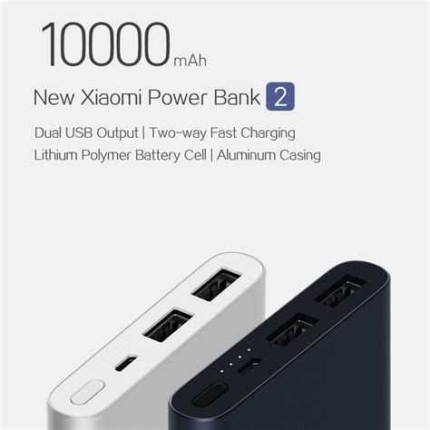Power Bank Xiaomi 10000 Mah Original Powerbank Readl Capacity new xiaomi power bank 2 10000mah silver
