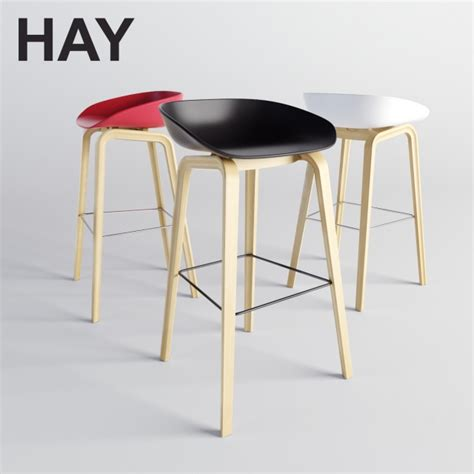 3d models: Chair   HAY About A Stool (AAS 38)