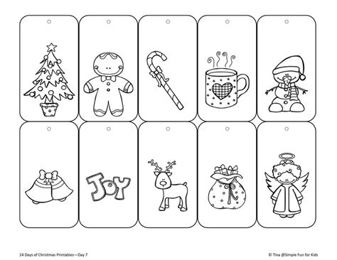 printable christmas tags to color christmas countdown day 7 color your own printable