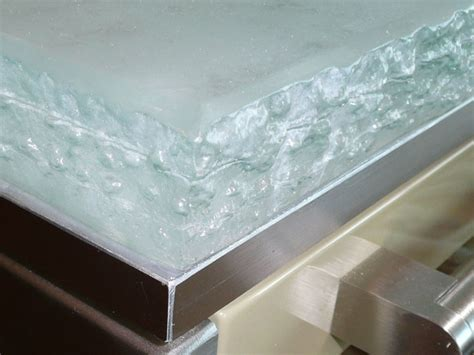White Glass Countertop by Glass Kitchen Countertop White Onyx Look Cbd Glass
