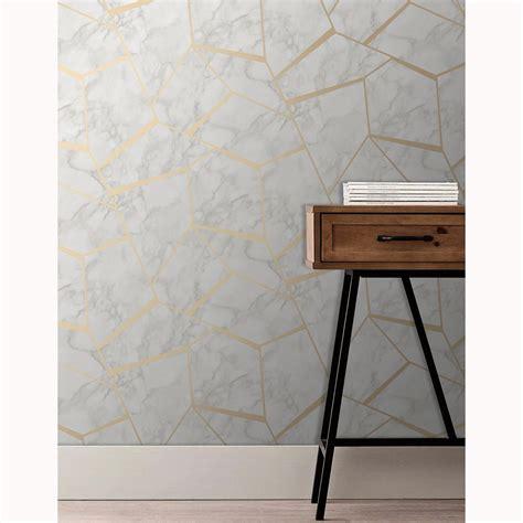schöne eigenschaften fraktale geometrisch marmor tapete gold wei 223 decor