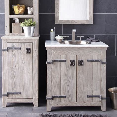 white wooden bathroom cabinets creative distressed wood bathroom vanities using rustic