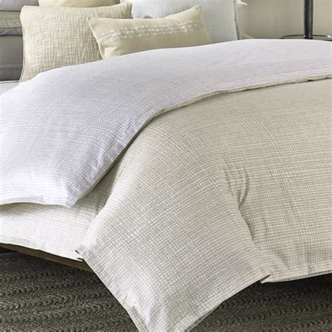 Reversible Duvet Cover Barbara Barry Interlace Reversible Sateen Duvet Cover