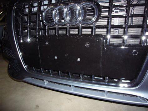 audi q7 front license plate holder q5 front license plate holder page 6 audiworld forums
