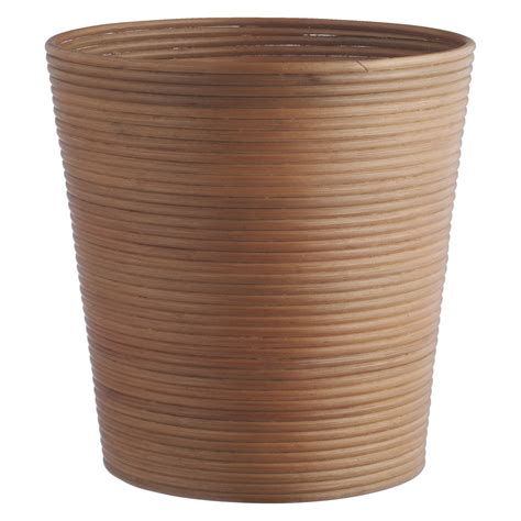 waste paper baskets canella natural rattan waste paper bin buy now at habitat uk