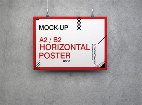 poster design horizontal download 8 free horizontal poster mockups