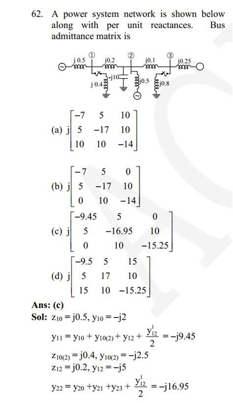 power system analysis ybus matrix electrical
