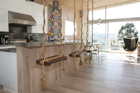 swing bar swing bar stools and 9 other chic kitchen ideas around the