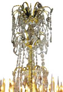 Spell Chandelier Large Louis Xv Style Gilt Bronze And Baccarat Chandelier